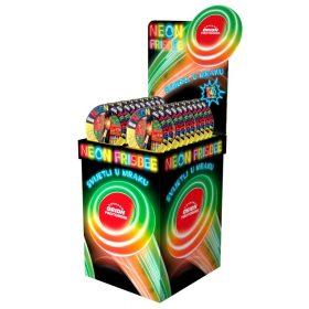 Neon Frisbee prodajni stalak kartonski